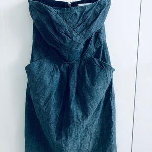 NWOT FCUK Sz 2 lightweight blue cotton minidress